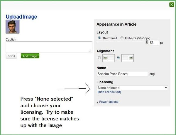 Images and Licensing (2) - guide