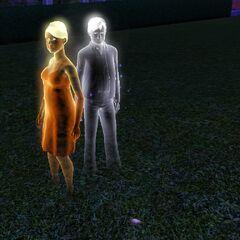 Квини и Честер Ландграаб как призраки.