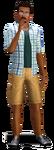 Render Darren Dourève (Les Sims 3)