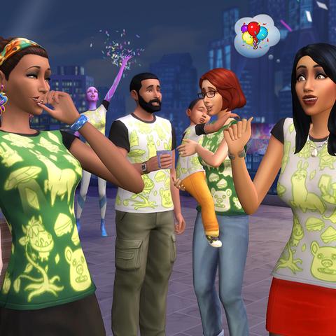 Caleb en la celebración del aniversario 17° de Los Sims.