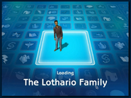 Loading screen of Lothario family