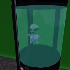 Un accesorio de bebé extraterrestre encontrado en PlumbBob Pictures.