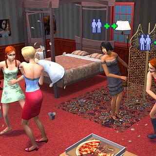 Jóvenes adultos en <i>Los Sims 2</i>.