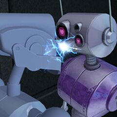 Beso robótico.