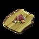 Копчёное мясо на доске из переработанной древесины (блюдо)