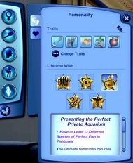 CAS - Personnalité (Les Sims 3)