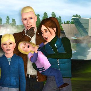 La familia Panero en el barrio Aurora Skies