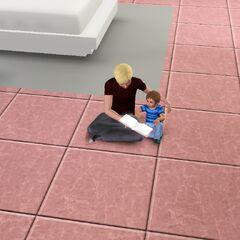 Un infante siendo leido por su hermano adolescente.