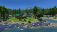 Granite Falls from the lake