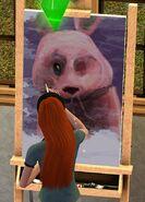 TS3 Social Bunny Painting