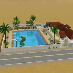 El solar comunitario con piscina de las Rarezas