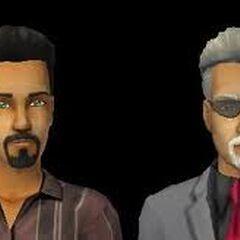 A la derecha, Juan Tenorio en Los Sims 2. A la Izquierda, Farruco Caliente, padre de las hermanas, muy parecido a Juan