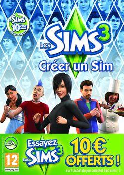 Jaquette Les Sims 3 Créer un Sim