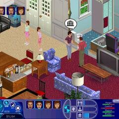 Foto de Los Sims (Beta), con la familia similar a la que aparece en Los Sims 2.
