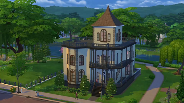 File:Goth Manor (TS4) Build mode trailer.png