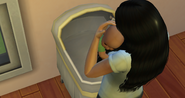TS4 baby being carried by mother