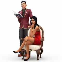 La familia Lápida en <i>Los Sims 4</i>.