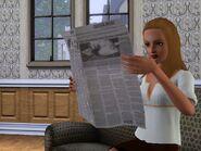 Sim lisant le journal (Les Sims 3)