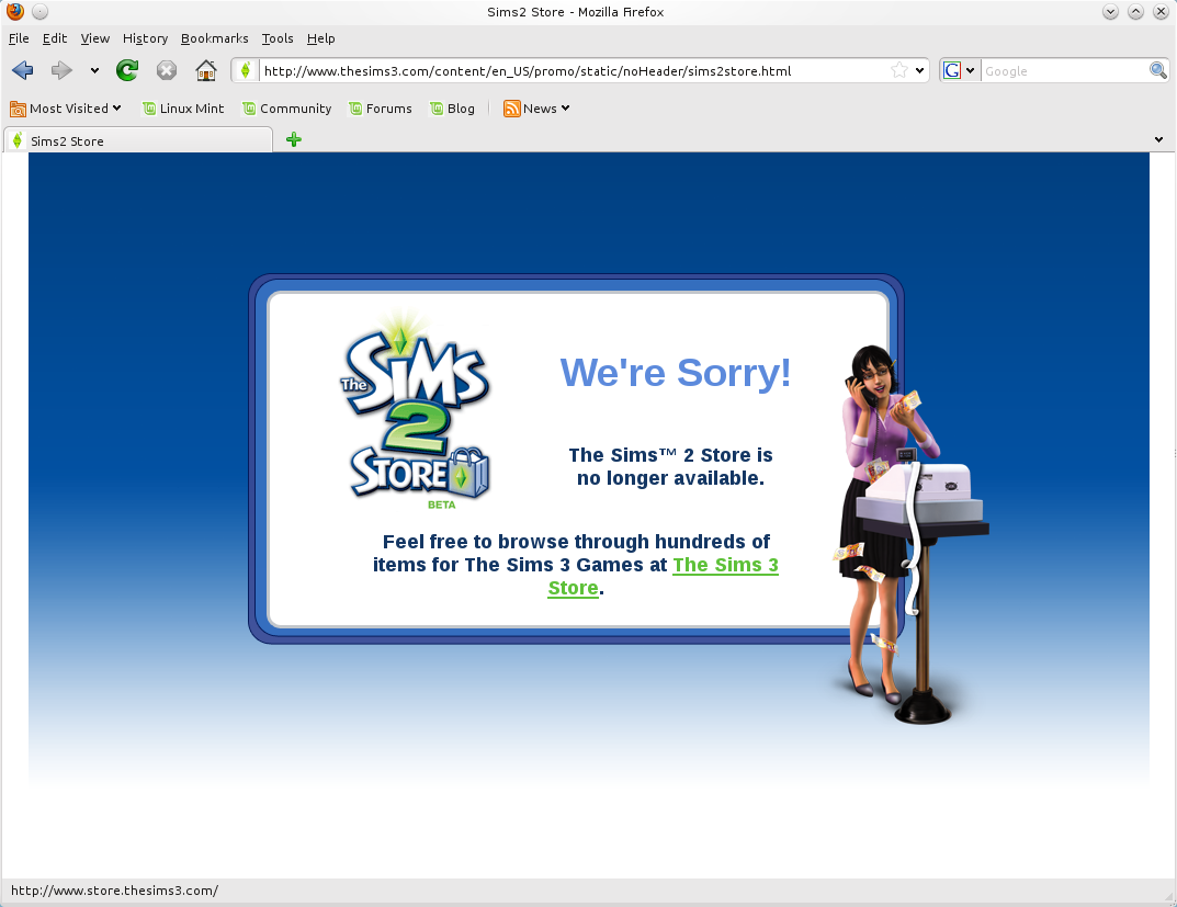 The Sims 2 Store Edition