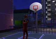Andy McGregor playing bball at 11pm
