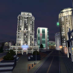 Centro de la ciudad de noche