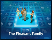 Loading screen of Pleasant family