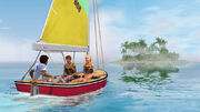 Sailing island paradise