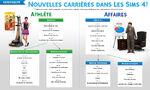 Infographie Carrières Les Sims 4
