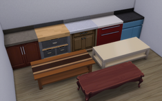 TS4 Counters and Coffee Tables