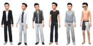 Barnabas Gray Outfits (TS4)