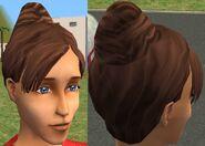 BunBang Hair Sims 2 Beta (Brown)
