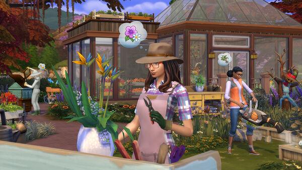 Los Sims 4 y las Cuatro Estaciones, Jardinería