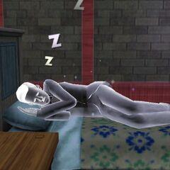 Un fantasma durmiendo.