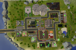 The Crossroads Apartments - road map