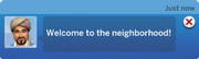 Welcome wagon notification TS4
