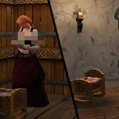 Младенец в <i>The Sims Medieval</i>