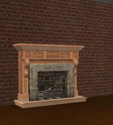 Ts2 gentrific flame-o-rama fireplace
