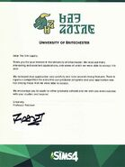 UoB Rejection Letter