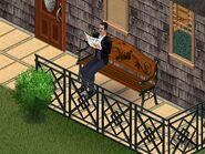Sim lisant le journal (Les Sims)