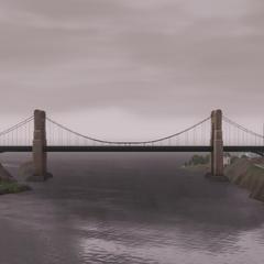 Puente de Bridgeport en un día nublado