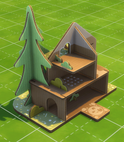 Cardboard Castle Doll House by Green Games