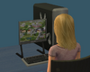 Sim playing the Sims 3