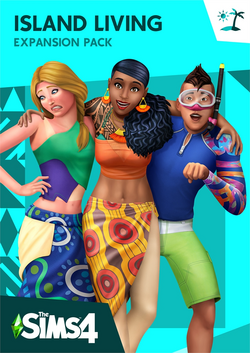 The Sims 4 Island Living Cover