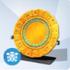 Plato Calendario Oro y Turquesas