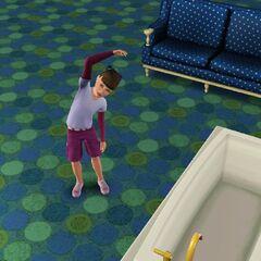 Una niña ejercitandose.