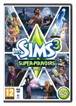Packshot Les Sims 3 Super-pouvoirs
