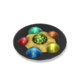 Капельки фруктового студня в гнезде из пены (блюдо)