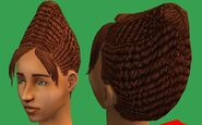 Beehive Hair Sims 2 Beta (Brown)