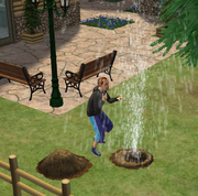 Sim bursting water pipe Bon Voyage