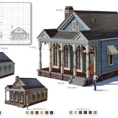 Concepto inicial de la arquitectura de Willow Creek.